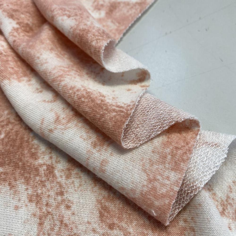 French terry tie dye nude